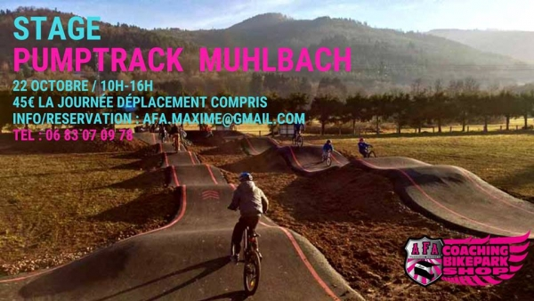 Stage Pumptrack Muhlbach avec Alsace Freeride Academy